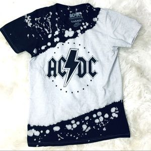 AC/DC Bleach dyed tie-dye t-shirt Cotton XS Garage